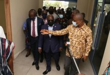 President Inspects Works On Covid Treatment Centre
