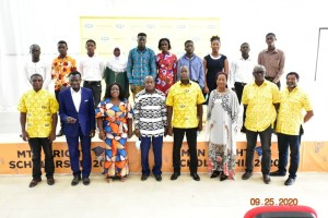 A Group Picture Of Scholarship Beneficiaries From Northern Sector With The Dignitaries At The Bright Scholarship Awards Ceremony In Kumasi