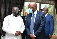 Vice President Of Ghana Dr Bawumia Mtn Group President Chief Executive Officer Ralph Mupita