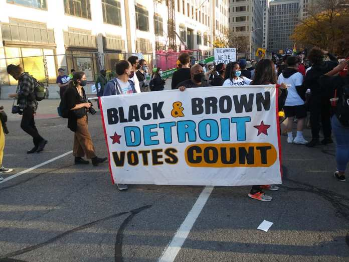 Detroit Demonstration After The Election Nov