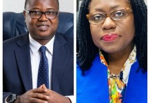 First Deputy Governor Dr Maxwell Opoku Afari And Second Deputy Governor Mrs Elsie Addo Awadzi