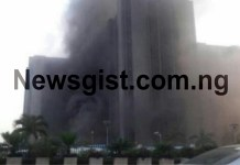 Fire Outbreak At CBN Office