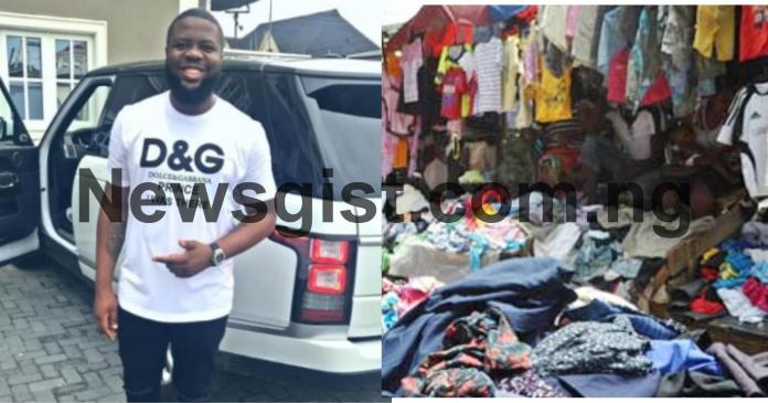 hushpuppi sold okrika clothes