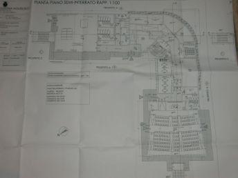 Piano semi-interrato della Scuola di Marco Simone e Setteville Nord