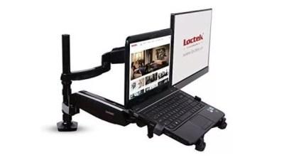 ノートパソコンも浮かせて設置できるモニターアーム「Loctek D5DL」が最強!