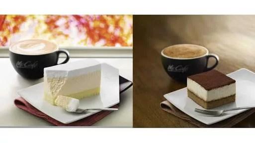 マクドナルド、新メニュー「レアチーズケーキ」と「ティラミス」を発売!