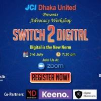 """JCI Dhaka United organized advocacy workshop """"Switch 2 Digital"""""""
