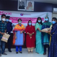 Distribution of health care materials among women and adolescents in Comilla