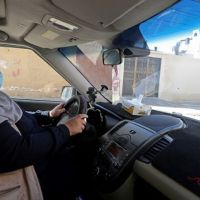 Naela Abu Jibba becomes first woman taxi driver in Gaza