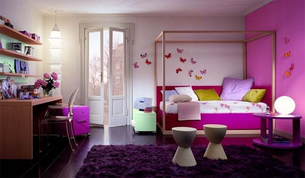 Romantic colors bedroom decorate by Dearkids 2 Romantic colors bedroom decorate by Dearkids