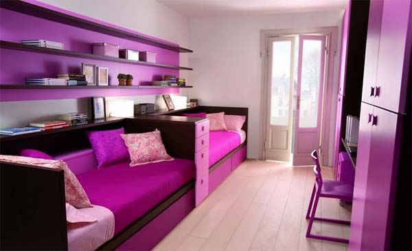 Romantic colors bedroom decorate by Dearkids 4 Romantic colors bedroom decorate by Dearkids