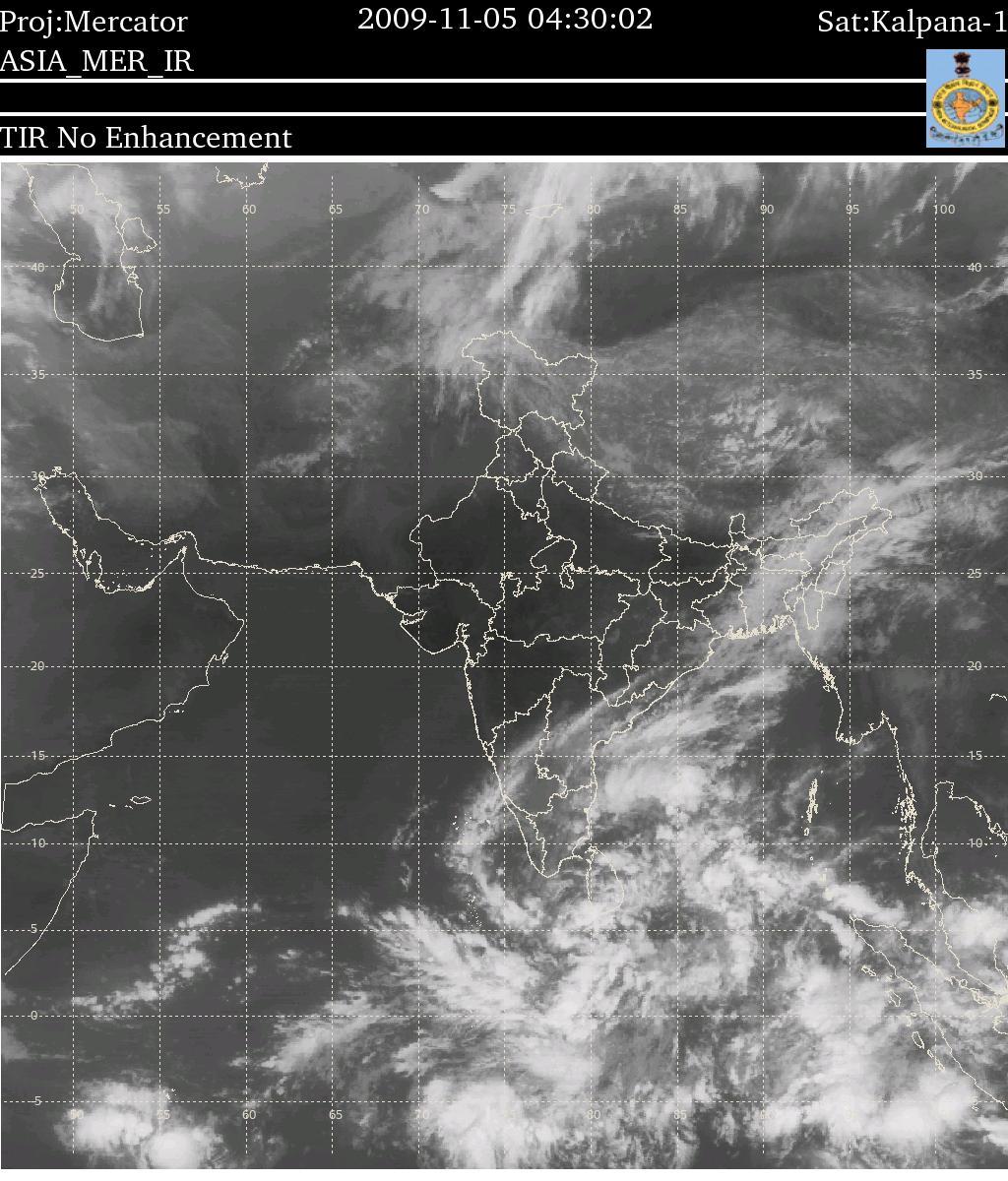 Satellite image of India