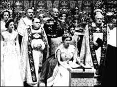 Queen Elizabeth II at her coronation