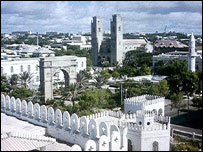 Mogadishu skyline pictured in 1977