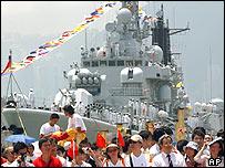 Chinese Navy in Hong Kong