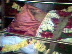 Indira Gandhi lying in state