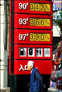 Precios de la gasolina, en China.