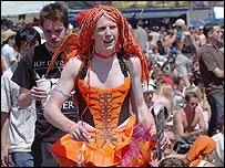 Asistente al festival de Glastonbury