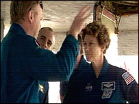 Eileen Collins and Andy Thomas, Nasa