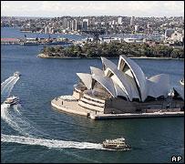 Sydney skyline, including Opera House