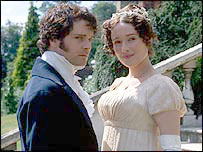 Firth as Darcy and Ehle as Elizabeth