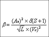 Beer goggles equation