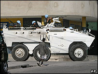 UN patrol in Haiti