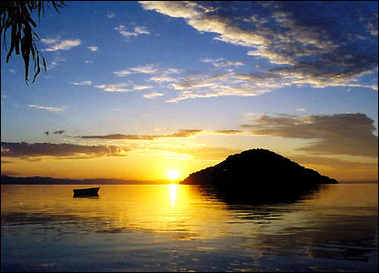 sunset over Lake Malawi (courtesy of newsimg.bbc.co.uk)