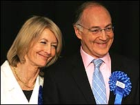 Sandra and Michael Howard in Folkestone