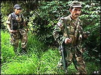 Revolutionary Armed Forces of Colombia (Farc) fighters (file photo)