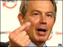 Tony Blair launching his 'respect' plans