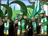 Hamas candidates campaigning for legislative elections