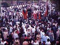 Ashura crowds in Lahore - 2005 Northern Trek Films
