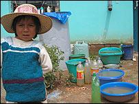 Niño en El Alto boliviano