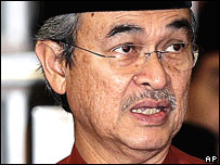 Malaysian Prime Minister Abdullah Ahmad Badawi