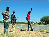 Zimbabwean hitchhikers