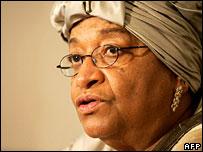 Liberia's President Ellen Johnson-Sirleaf