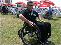 Photo of Mike Spindle in the Trekinetic K2 wheelchair
