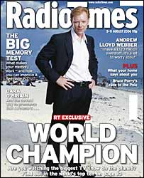 Radio Times cover featuring CSI: Miami's David Caruso