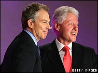 Tony Blair with Bill Clinton