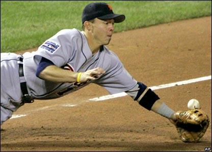 Detroit third baseman Brandon Inge