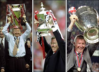 Sir Alex ferguson winning the Barclays premier league Again