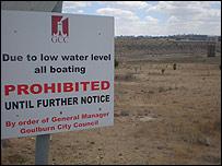 Las reservas de agua australianas están bajo m�nimos.