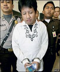 Indonesian Hasanuddin at court in Jakarta, 8/11/06