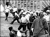 Protestas contra la guerra en Vietnam en 1968