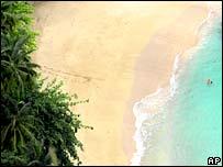 Deserted beach. Image: AP