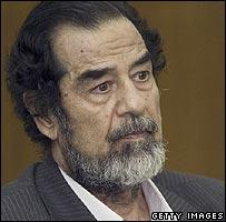 Former Iraqi President Saddam Hussein (File photo)