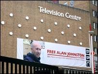 Affiche pour la libération d'Alan Johnston