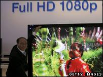 Los televisores de alta definición son una de las estrellas del show.