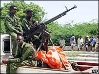 Ethiopian troops in Mogadishu